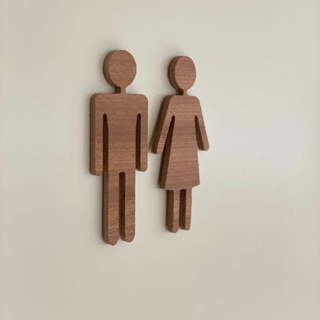 toiletskilt dame og herre