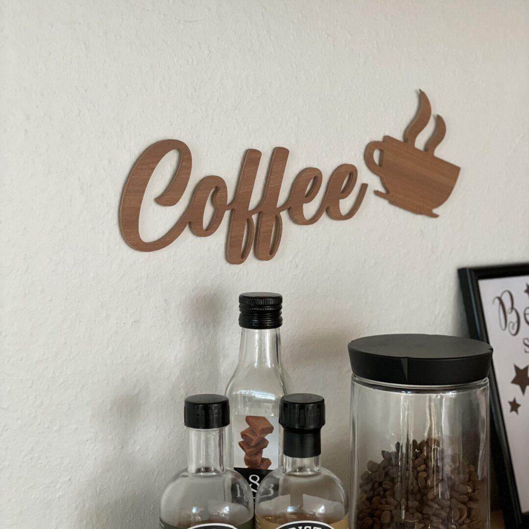 Coffee dekorationstekst