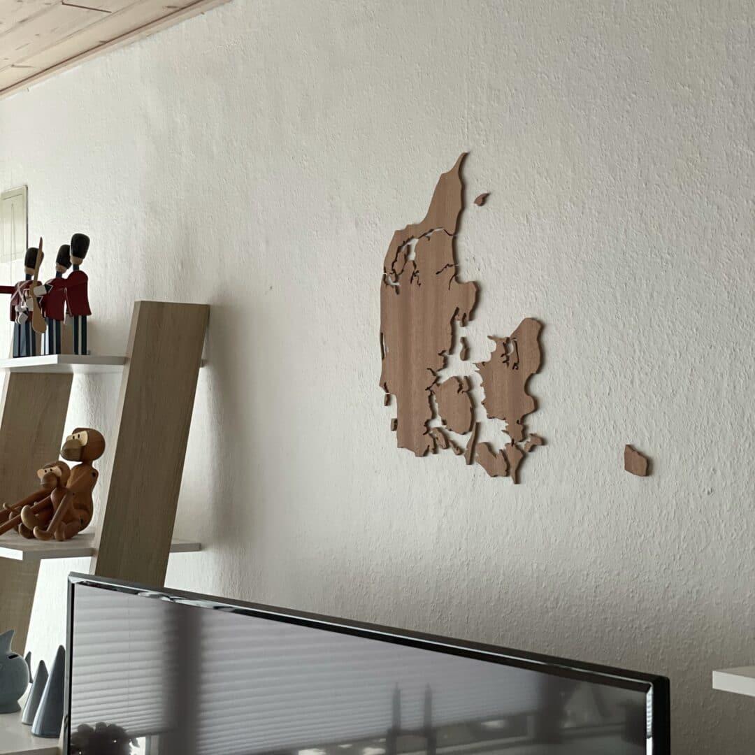 Danmarkskort vægdekoration