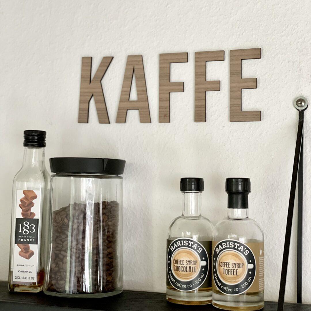 kaffebar bogstaver