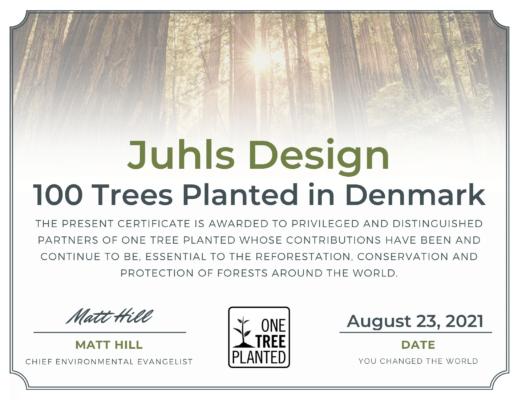 certifikat 100 træer